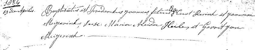 Doopboek Lattrop 19 april 1834