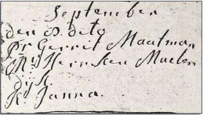 Doopboek Ootmarsum Janna Boers 08-09-1743