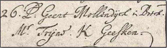 Doopboek Ootmarssum 26-12-1686