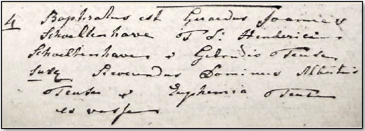 Doopboek Ootmarssum 4 maart 1809