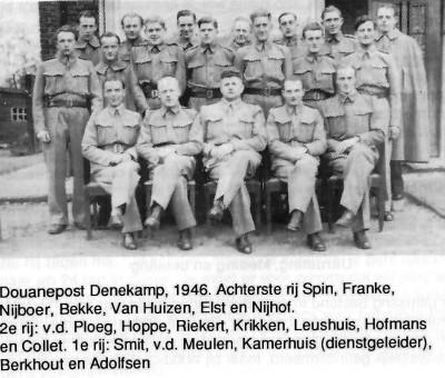 Douanepost Rammelbeek bij Denekamp 1946