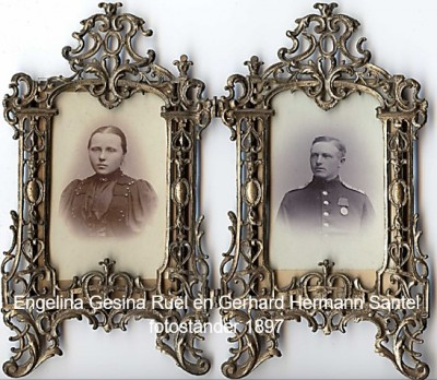 Engelina Gesina Ruël en Gerhard Hermann Santel 1897