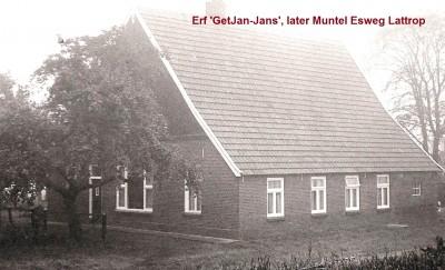 Erve 'GetJan-Jans', later Muntel  Esweg  Lattrop