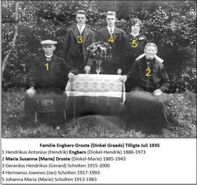 Familie Engbers-Droste Dinkel Graads Tilligte juli 1935