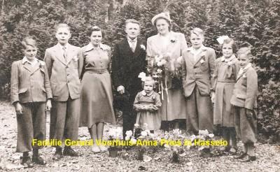 Familie Gerard Voorhuis-Anna Pries in Hasselo