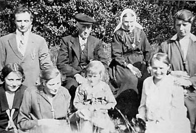 Familie Huisken-Horsthuis (ool Bossink) Lattrop ca. 1950