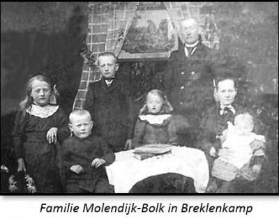 Familie Molendijk-Bolk op Brookman in Breklenkamp
