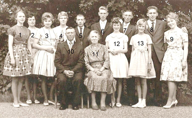 Familie Roepe-Kerkhof Jonkman (Mösm) Lattrop (25-jarig huwelijk 28-05-1962) - kopie