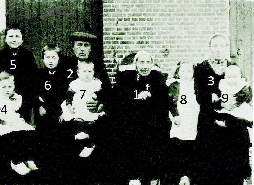 Familie Ruël-Scholten (Reulke) Binnenbroek Lattrop foto 1919