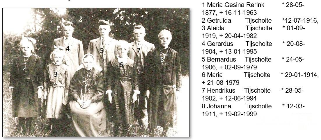 Familie Tijscholte-Reerink Lattrop ca. 1928