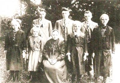 Familie Tijscholte-Reerink Lattrop  en kinderen (Foto plm 1928)