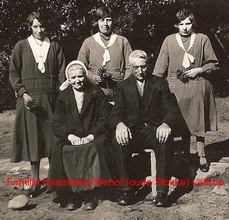 Familie Haamberg-Niehof op oudeStokke in Lattrop