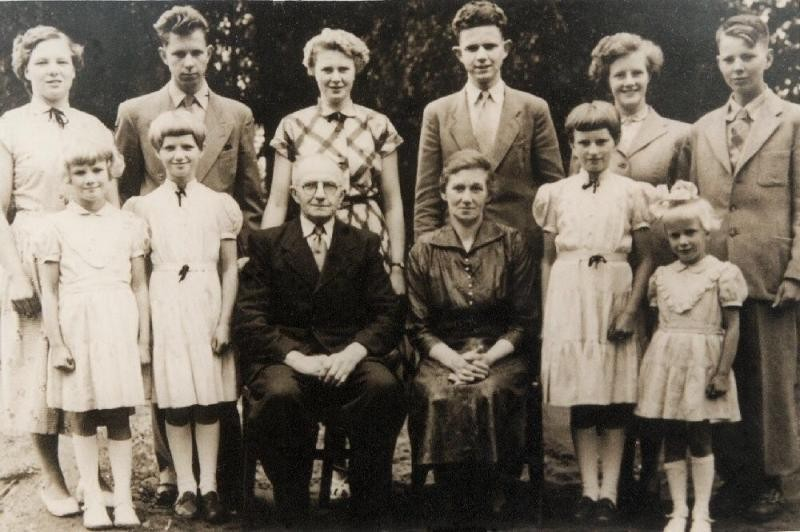 Familie Huisken-Nolten op oude Bossink in Lattrop