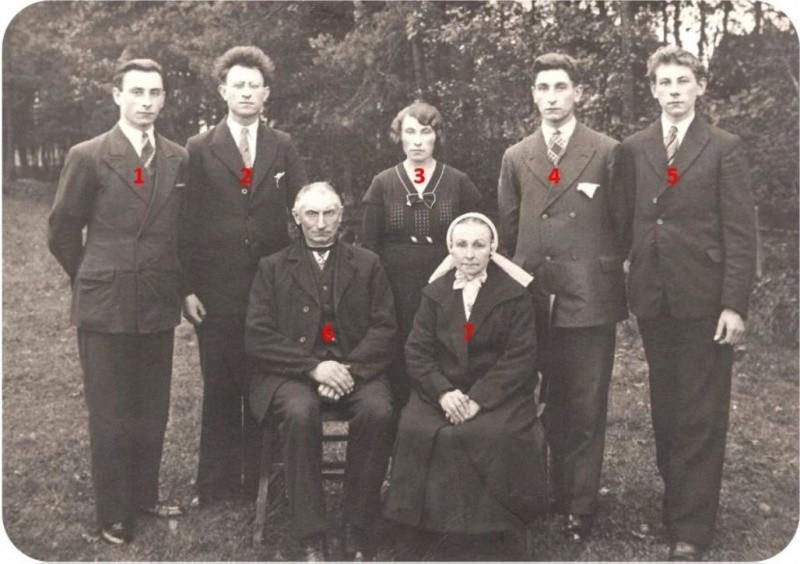 Familiefoto Scholte Lubberink-Klaas op Veldboer in Lattrop
