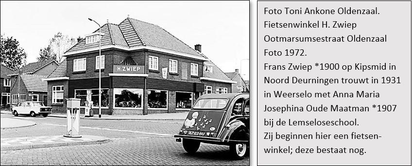 Fietsenwinkel H. Zwiep Ootmarsumsestraat Oldenzaal