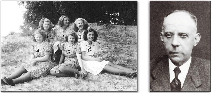 Foto op de Schoolberg bij Wiggerskuper Lattrop 1948