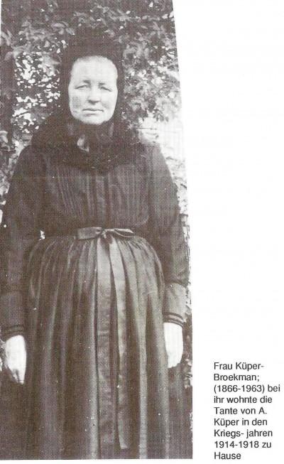 A. Küper (geboren Hölsmüller) aus Lage 1866-1963