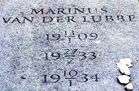 Gedenkteken voor Van der Lubbe op het Südfriedhof in Leipzig