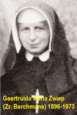 Geertruida Maria Zwiep (Zr. Berchmans) Noord Deurningen 1896-1973