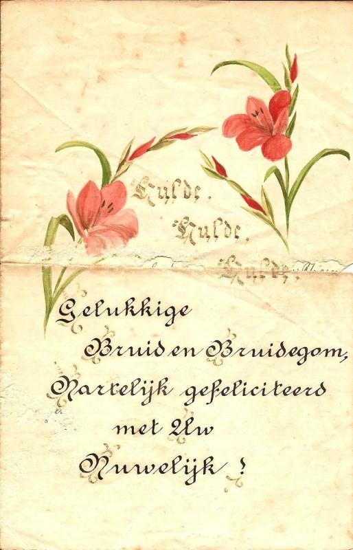 bruidspaar gefeliciteerd Brief aan bruidspaar Veldhuis Reerink Lattrop 1943   Heemkunde  bruidspaar gefeliciteerd