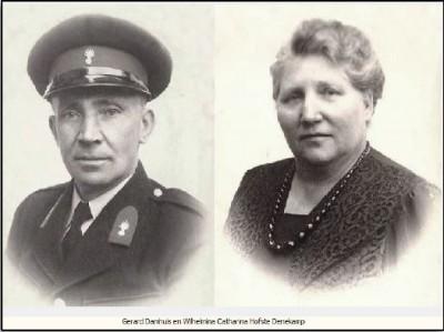 Gerard Damhuis en Wilhelmina Hofste in Denekamp