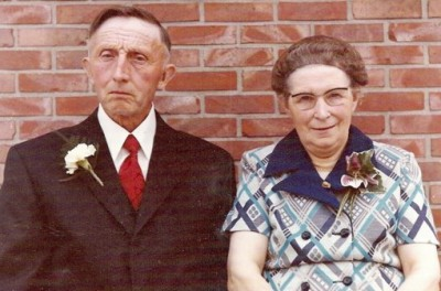 Gerard Groeneveld en leida Roelofs in Lattrop (40 jaar getrouwd 1973)