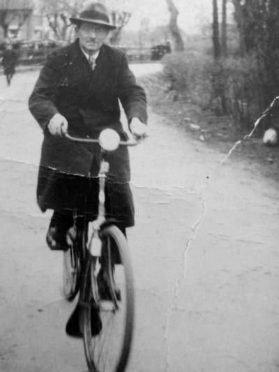 Gerard Keuters Lattrop op de fiets