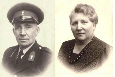 Gerard Damhuis (politie-Damhuis) en Wilhelmina Catharina Hofste Denekamp