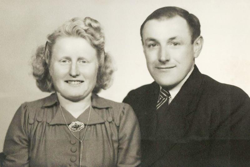 Gerard Scholten en Anneke Scholten-Scholten op olde Bonke in Lattrop