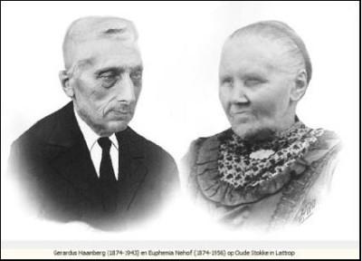 Gerardus Haamberg  (1874-1943) en Euphemia Niehof (1874-1956) op oude Stokke in Lattrop