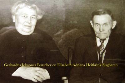 Gerhardus Johannes Busscher en Elisabeth Adriana Heitbrink Slagharen