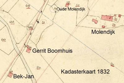 Gerrit Boomhuis Kadasterkaart 1832