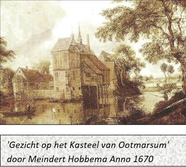 Gezicht op het kasteel van Ootmarsum door Meindert Hobbema anno 1670