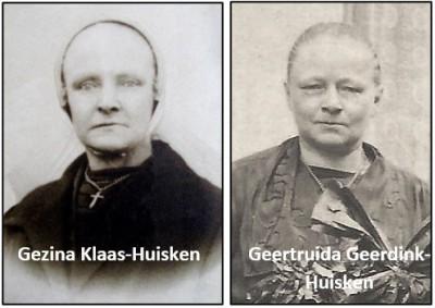 Gezina Klaas-Huisken en Geertruida Geerdink-Huisken
