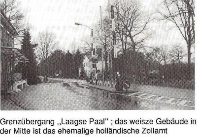 Grenzübergang Laagse Paal und das ehemalige holländische Zollamt