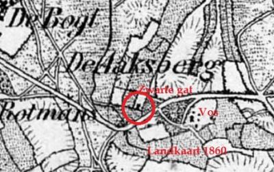 Groeneveld op Zwarte gat Breklenkamp landkaart 1860