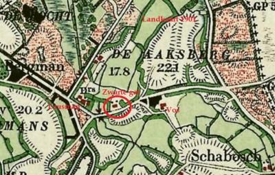 Groeneveld op Zwarte gat Breklenkamp landkaart 1900