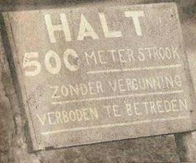 Halt 500 meter strook zonder vergunning verboden te betreden