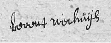 Handtekening Berent Wechuijs Lutke Agelo