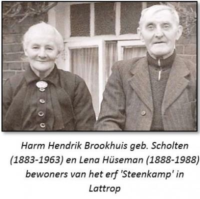Harm Hendrik Brookhuis geb. Scholten (1883-1963) en Lena Hüseman (1888-1988)