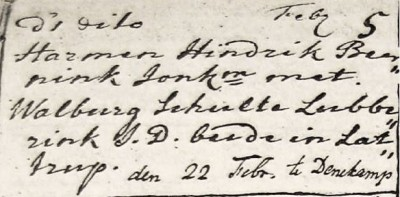 Harmen hendrik Beernink en Walburg Schulte Lubberink 22-02-1778