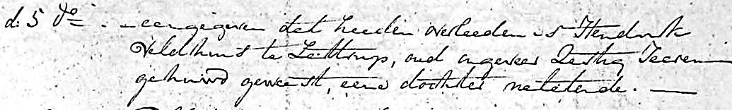 Hendrik Veldhuis in Lattrop overleeden Inschrijving CIV Nederduits-Gereformeerde overlijden 1806-1811