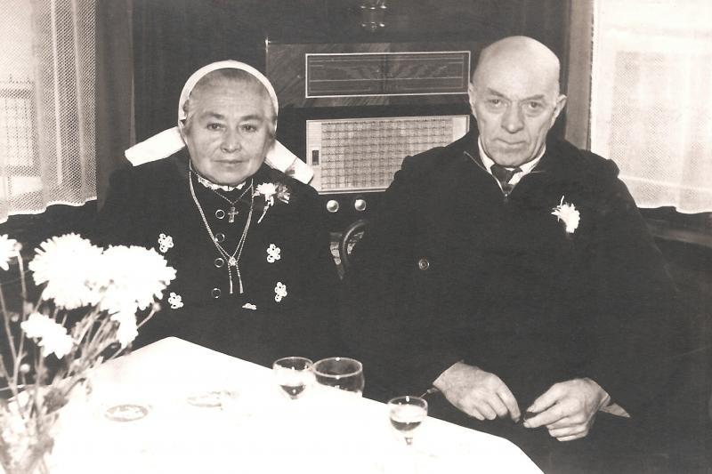 Hendrik Edelkamp (Schabos) en Hanna Hulsmeijer (Roepe) Breklenkamp