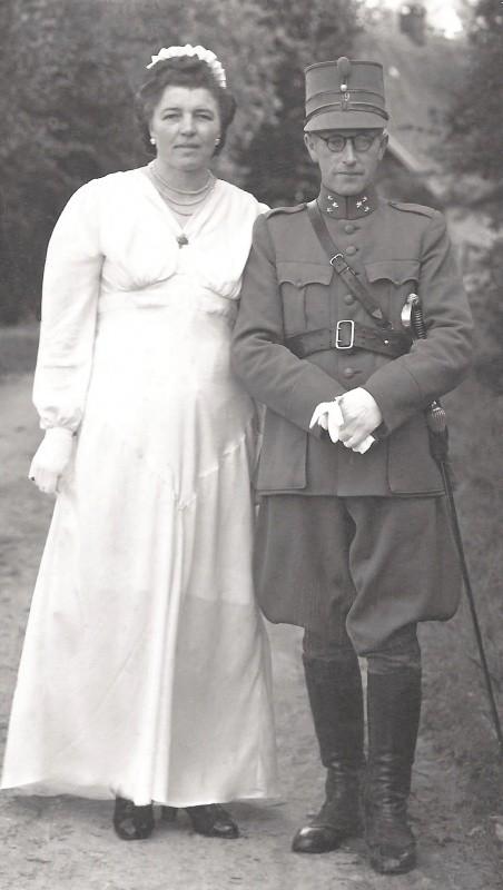 Hendrik Niehofen Trui Mulstege Lattrop 1945 (Bevrijdingsfeest als Prins Bernard en Koningin Juliana)