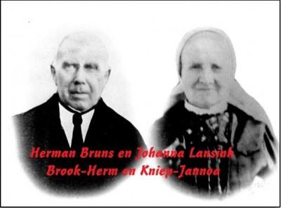 Herman Bruns en Johanna Lansink of  Brook-Herm en Kniep-Jannoa in Lattrop