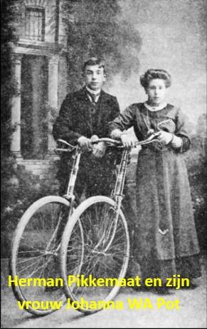 Herman Pikkemaat Klein Agelo en zijn vrouw Johanna W.A. Pot