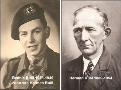 Herman Ruël 1889-1954 en zoon Bennie Ruël 1928-1949 op Boomhuis in Lattrop