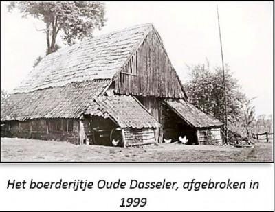 Het boerderijtje Oude Dasseler in Lattrop, afgebroken in 1999