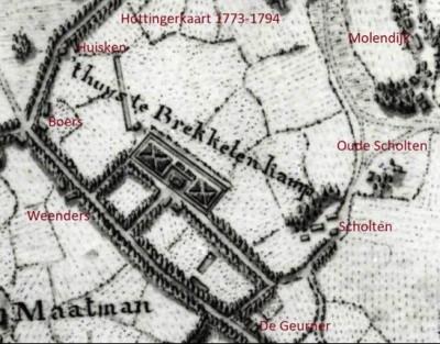 Hottingerkaart 1773-1794 Scholten Breklenkamp