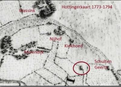 Hottingerkaart Molendijk Bakhuis Breklenkamp